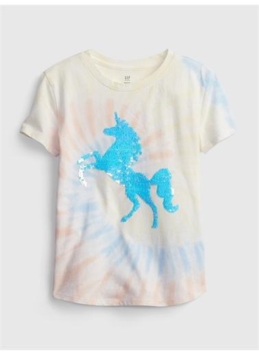 Gap %100 Organik Pamuklu ınteraktif T-Shirt Renkli